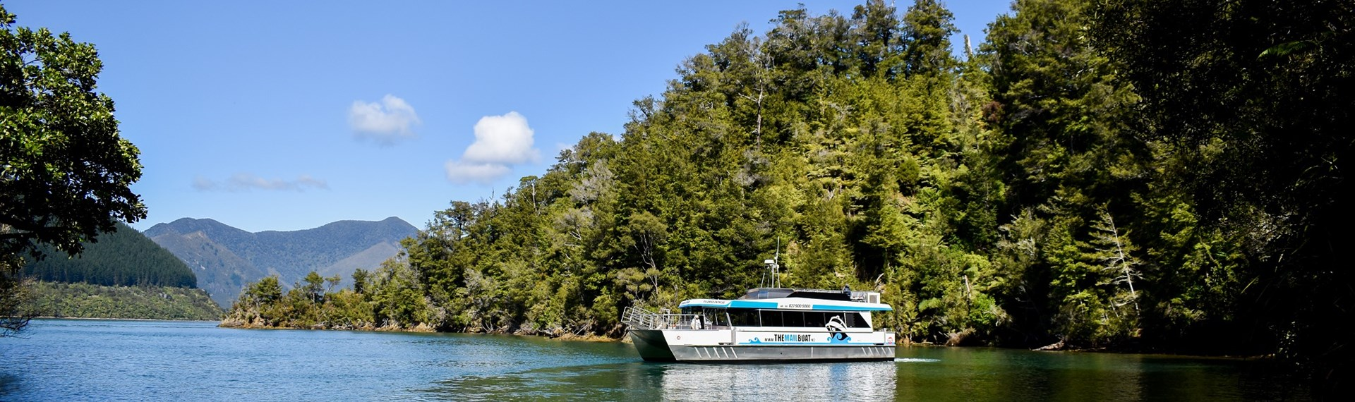 The Pelorus Mail Boat exploring the bays of Pelorus Sound/Te Hoiere.