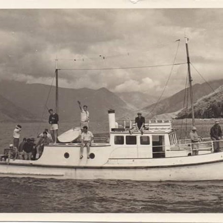 A photo of an old mail boat - the designs have changed over the years.