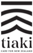 Tiaki - care for New Zealand logo.